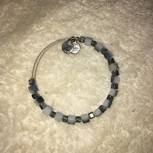 Alex and Ani blue beaded bracelet